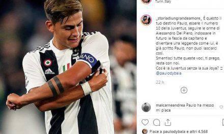 """Dybala """"snobba"""" il Manchester United e diventa capitano della Juve su Instagram"""