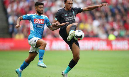Napoli-Liverpool 3-0: le reti di Insigne, Milik e Younes regolano i Reds