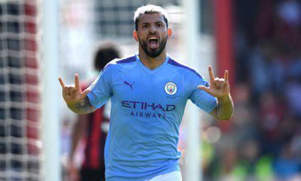 Bournemouth-Manchester City 1-3: Aguero super, De Bruyne da record