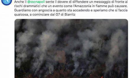 Amazzonia, anche il mondo del calcio prega per la foresta che brucia