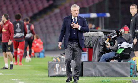 """Ancelotti su Juventus-Napoli: """"Lozano è pronto. Orsato? Nessun problema"""""""