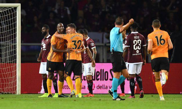 Torino-Wolverhampton 2-3, il cuore non basta: Jota e Jimenez affondano i granata