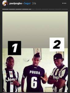 Pogba posa con la maglia della Juventus sui social