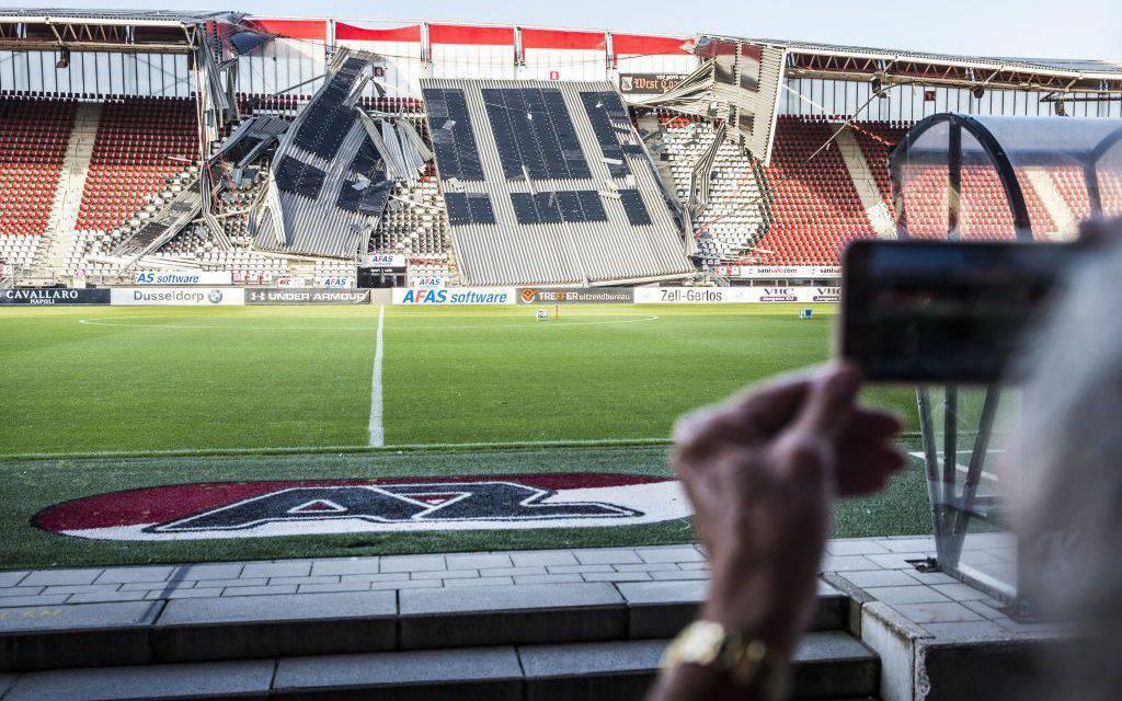 Az Alkmaar, crolla tetto dello stadio per il vento FOTO