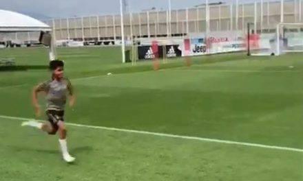 Cristiano Ronaldo si allena con il figlio Cristianinho, il video su Instagram