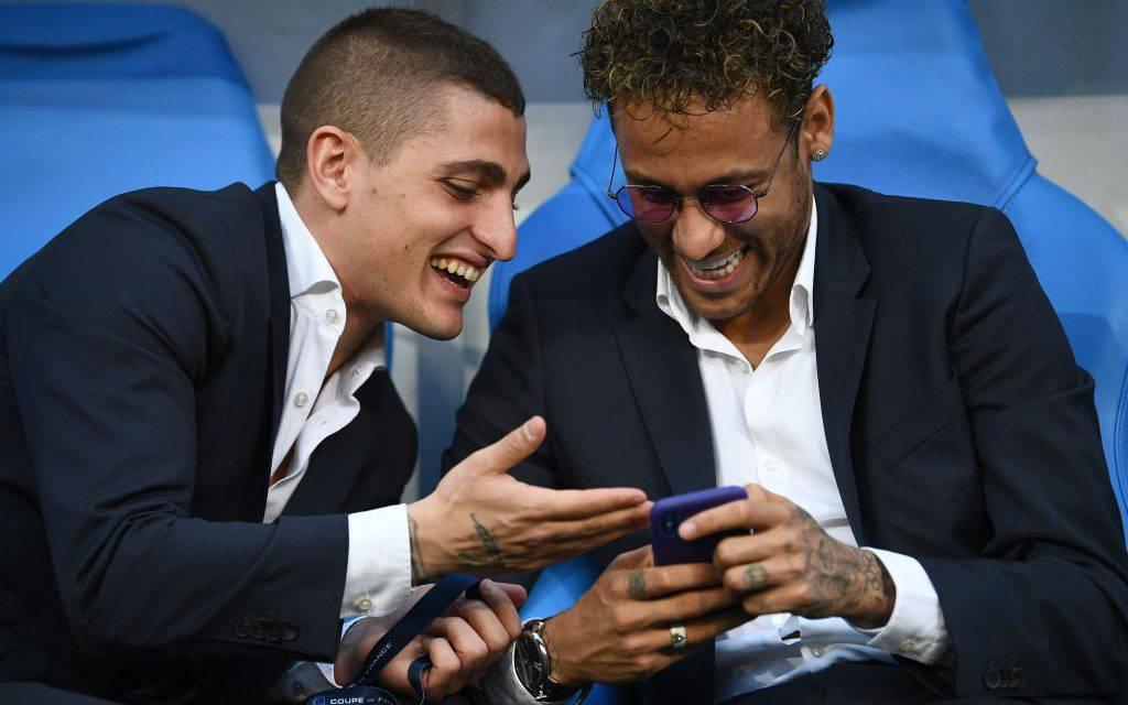 """Psg, Verratti """"costringe"""" Neymar a festeggiare la Supercoppa (Video)"""