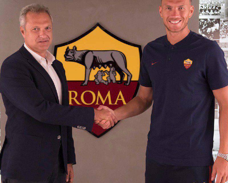 Roma: Dzeko rinnova fino al 2022, addio Inter