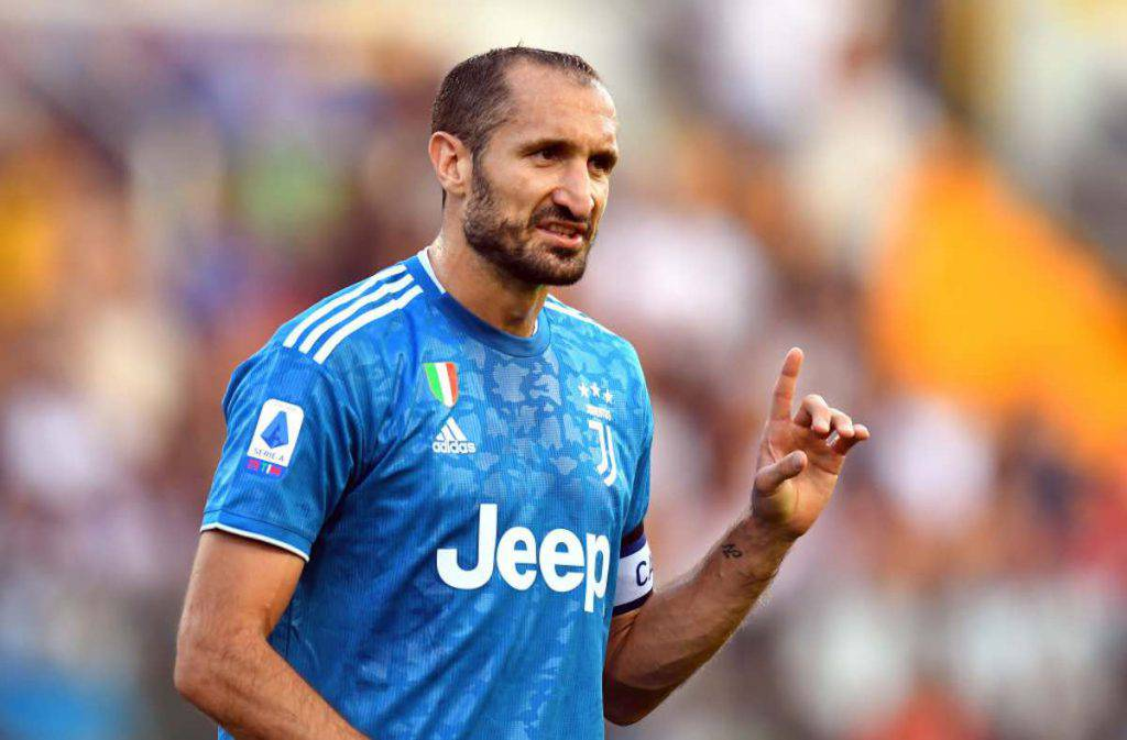 Juventus Chiellini sarà in panchina
