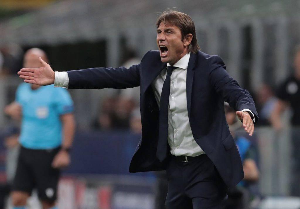Conte nel post gara contro la Lazio