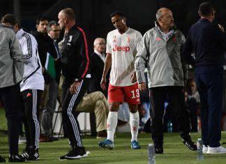 Brescia-Juventus infortunio Danilo rientro