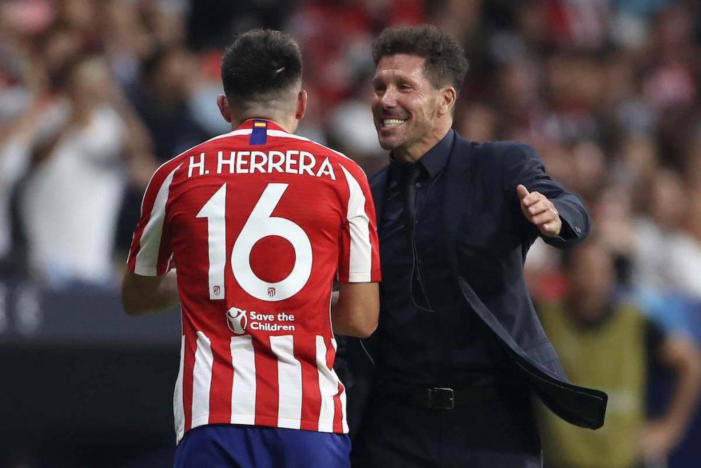 Simeone con Herrera al Wanda Metropolitano