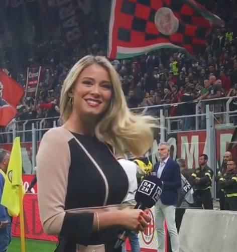 Diletta Leotta presenta il derby di Milano