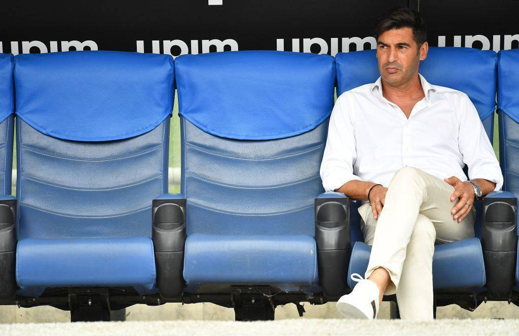 L'allenatore della Roma Paulo Fonseca è preoccupato