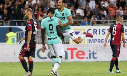 Cagliari-Inter 1-2, la decide Lukaku su rigore: i nerazzurri vincono a fatica