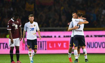 Serie A, Torino-Lecce 1-2: Farias e Mancosu per l'impresa. VAR, polemiche nel finale