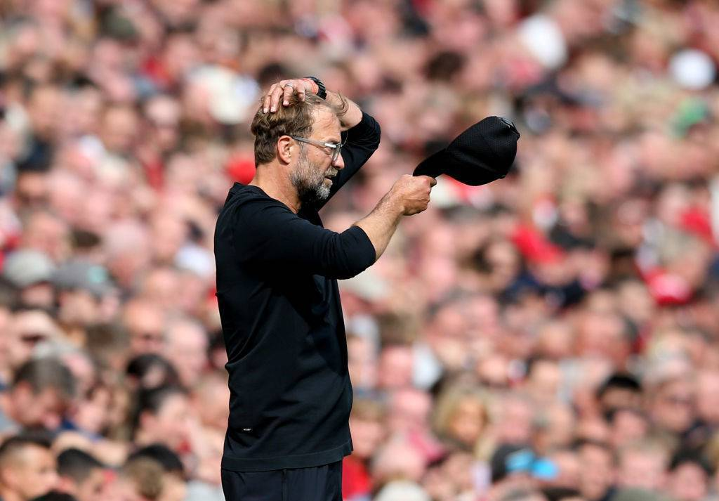 L'allenatore del Liverpool Jurgen Klopp