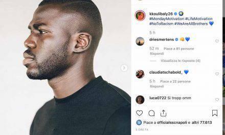 """Koulibaly, l'appello social contro il razzismo: """"Siamo tutti fratelli anche se diversi"""""""