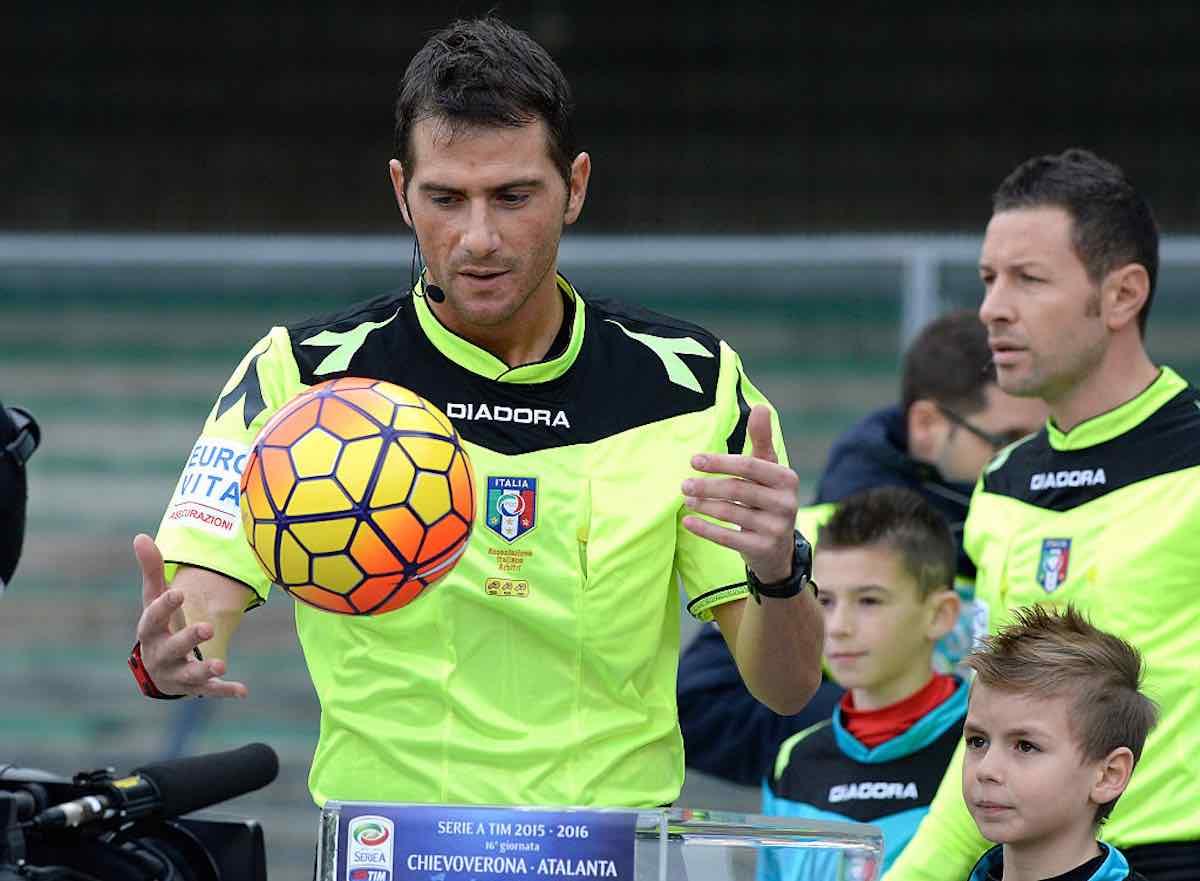 Serie A, gli arbitri di domani: Verona-Napoli affidata a Pasqua