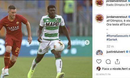 """Roma, gaffe di Veretout sui social: """"Grande esordio, ora testa alla Champions"""""""