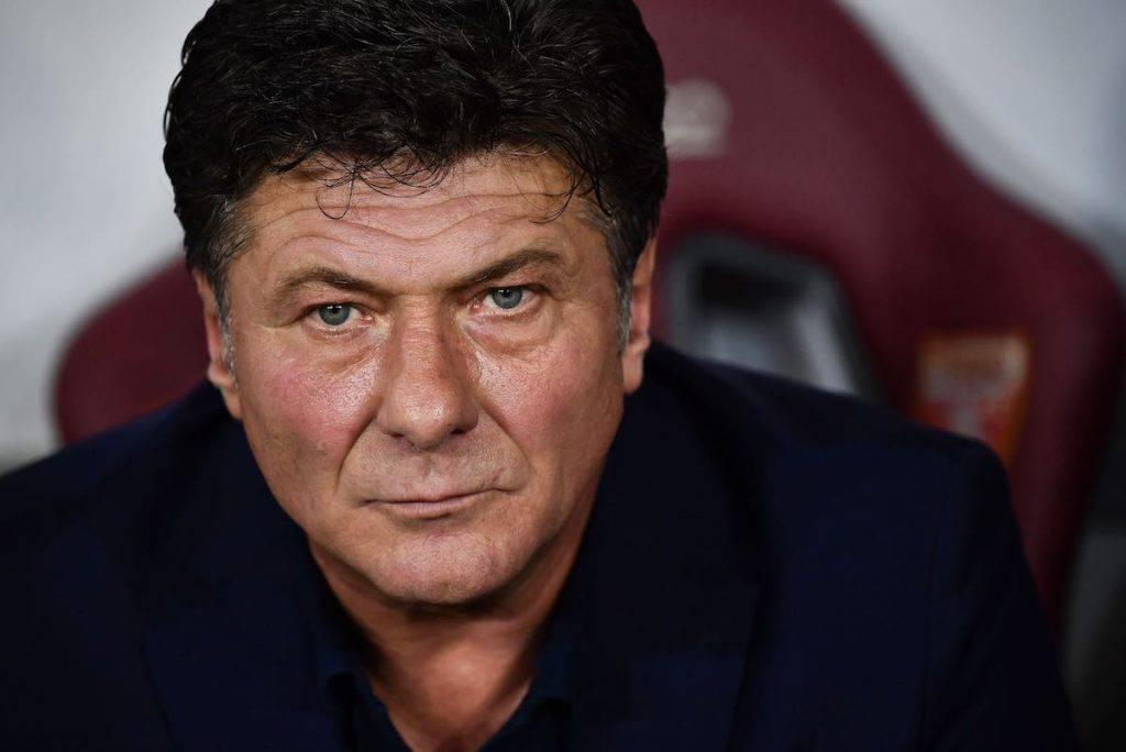 Walter Mazzarri nel post partita col Milan