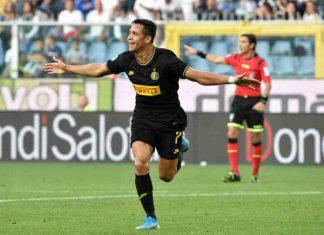 Alexis Sanchez, gol al debutto da titolare in Sampdoria-Inter
