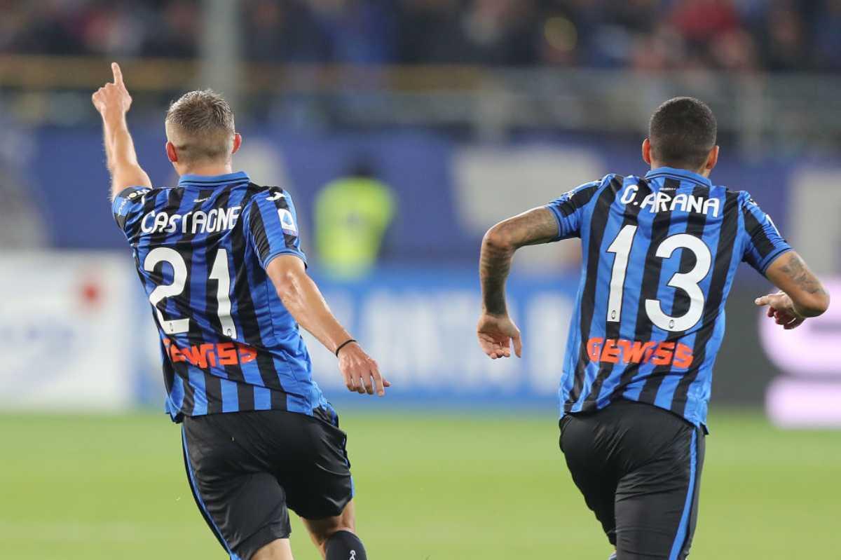 Atalanta, il gol di Castagne contro la Fiorentina