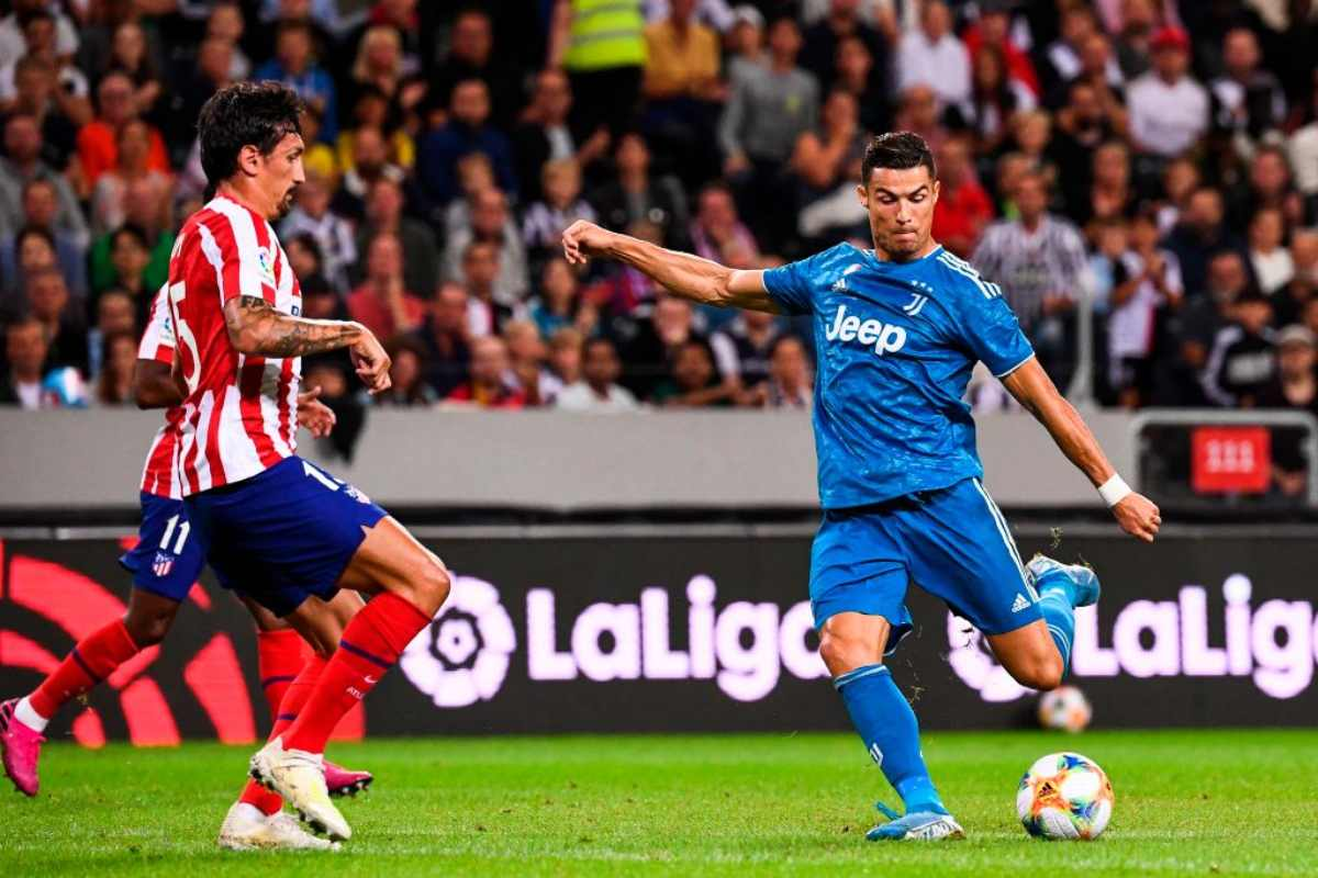 Cristiano Ronaldo protagonista in Atletico Madrid-Juve