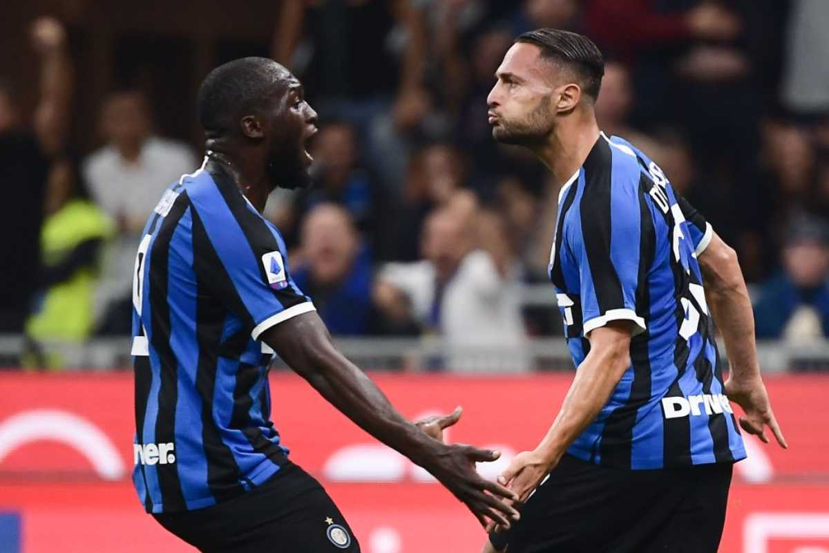 D'Ambrosio in gol in Inter-Lazio