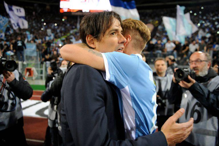 Ciro Immobile con Simone Inzaghi