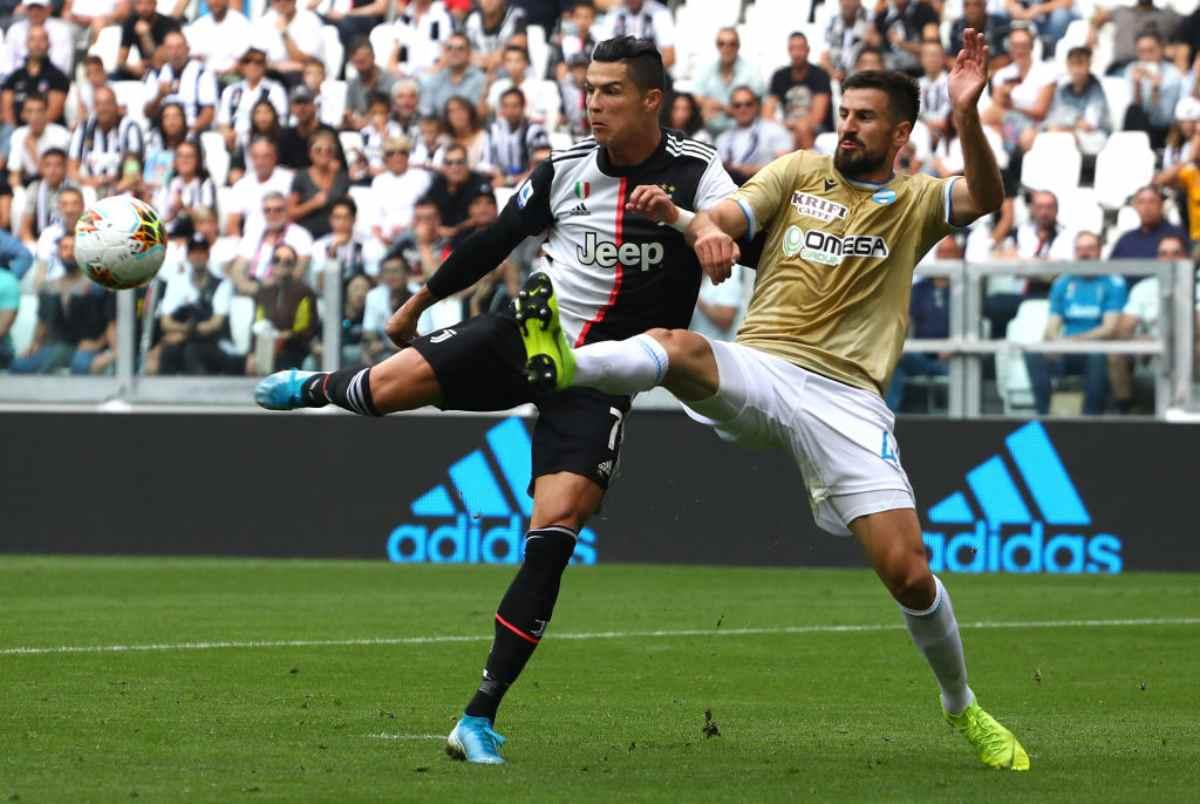Juventus-Spal, Cristiano Ronaldo in azione