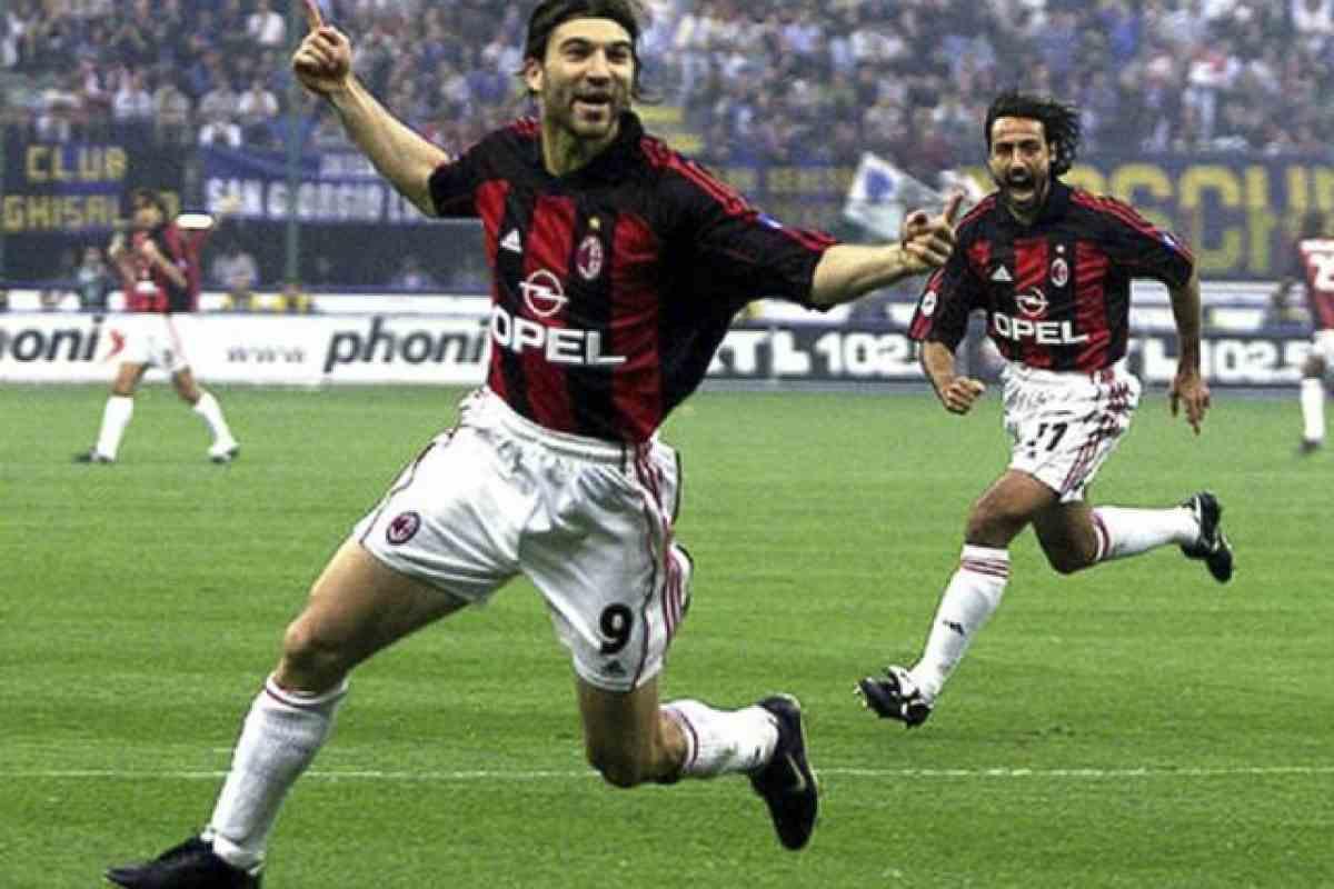 Gianni Comandini, protagonista del 6-0 del Milan all'Inter del 2001