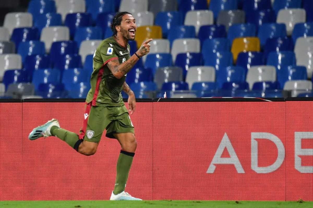 Castro, gol decisivo in Napoli-Cagliari