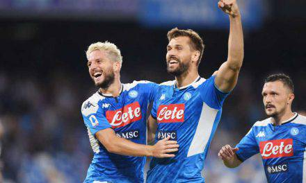 Napoli-Sampdoria 2-0: Mertens implacabile, assist Llorente. Crisi per i blucerchiati