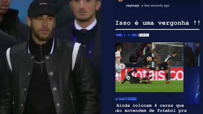 Il famoso post di Instagram dove Neymar attaccava gli arbitri