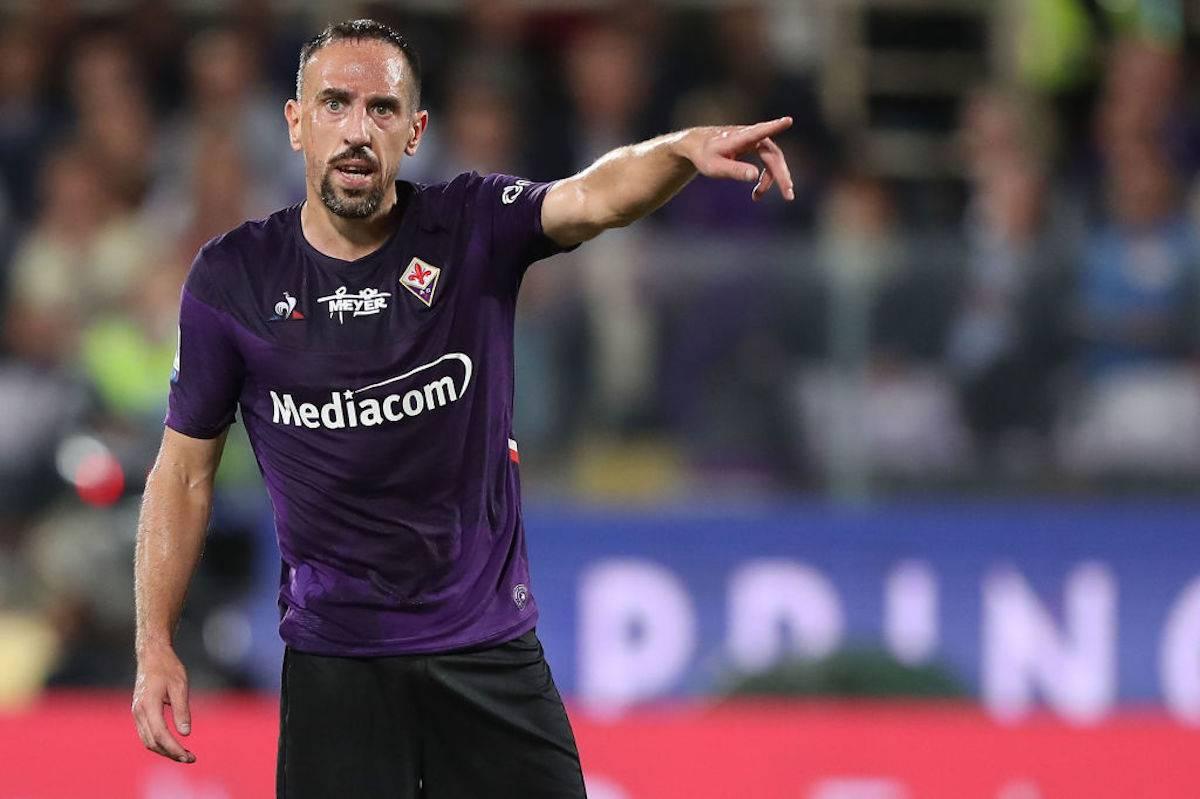 Frank Ribery migliore in campo di Milan-Fiorentina