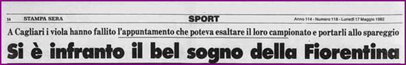 ritaglio di giornale del maggio 1982