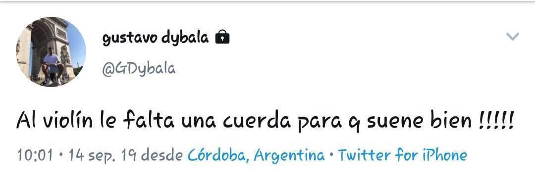 Il tweet del fratello di Dybala