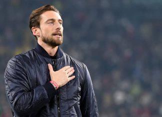 Marchisio in conferenza stampa all'Allianz Stadium
