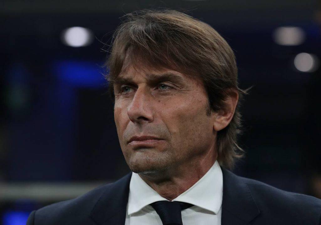 Conte nel post gara con il Borussia