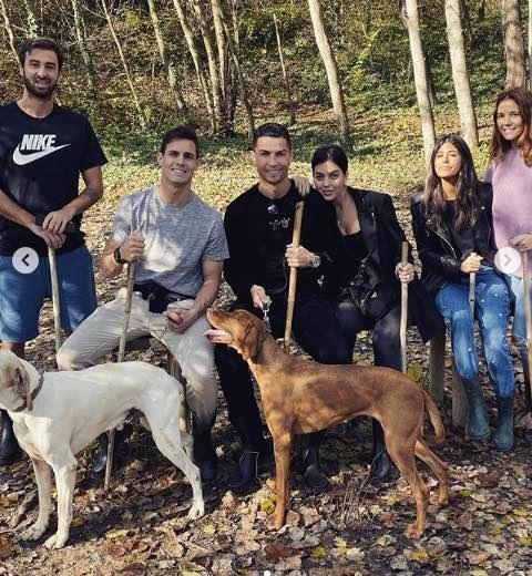 Cristiano Ronaldo week end di risposo a caccia di tartufi
