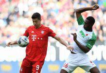 Bundesliga, risultati 19 ottobre: Lewandowski non basta, l'Augsburg ferma il Bayern Monaco