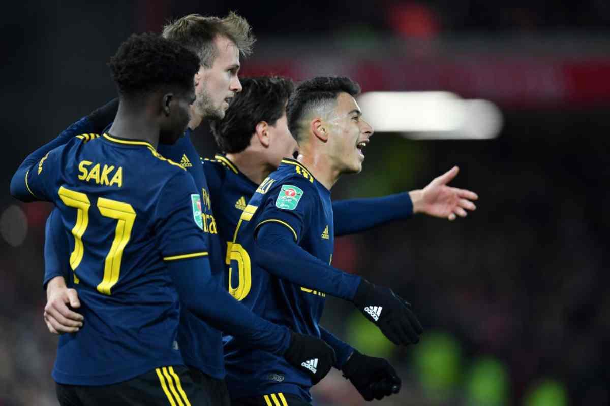 Liverpool-Arsenal 4-5 in Coppa di Lega
