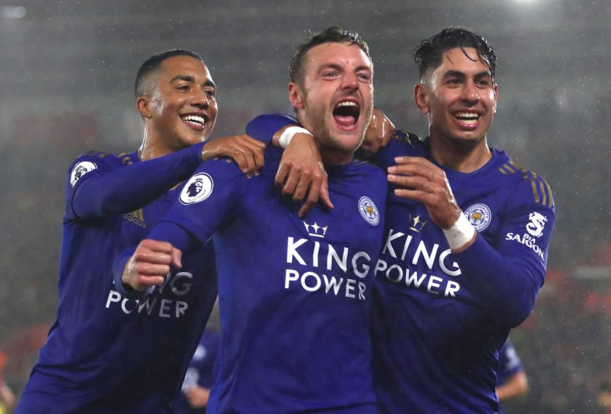 Leicester da favola. 9 reti al Southampton e secondo posto