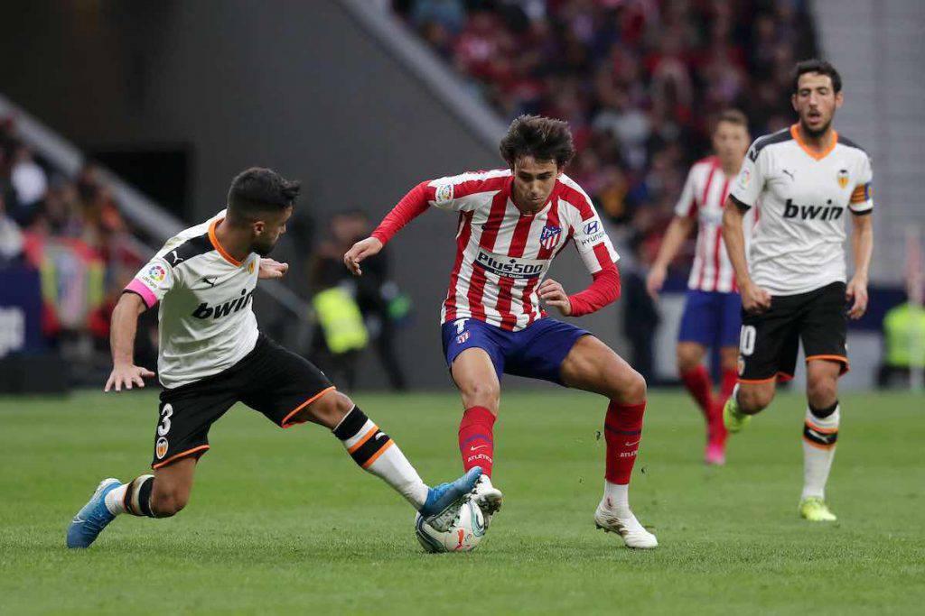 Joao Felix infortunato contro il Valencia
