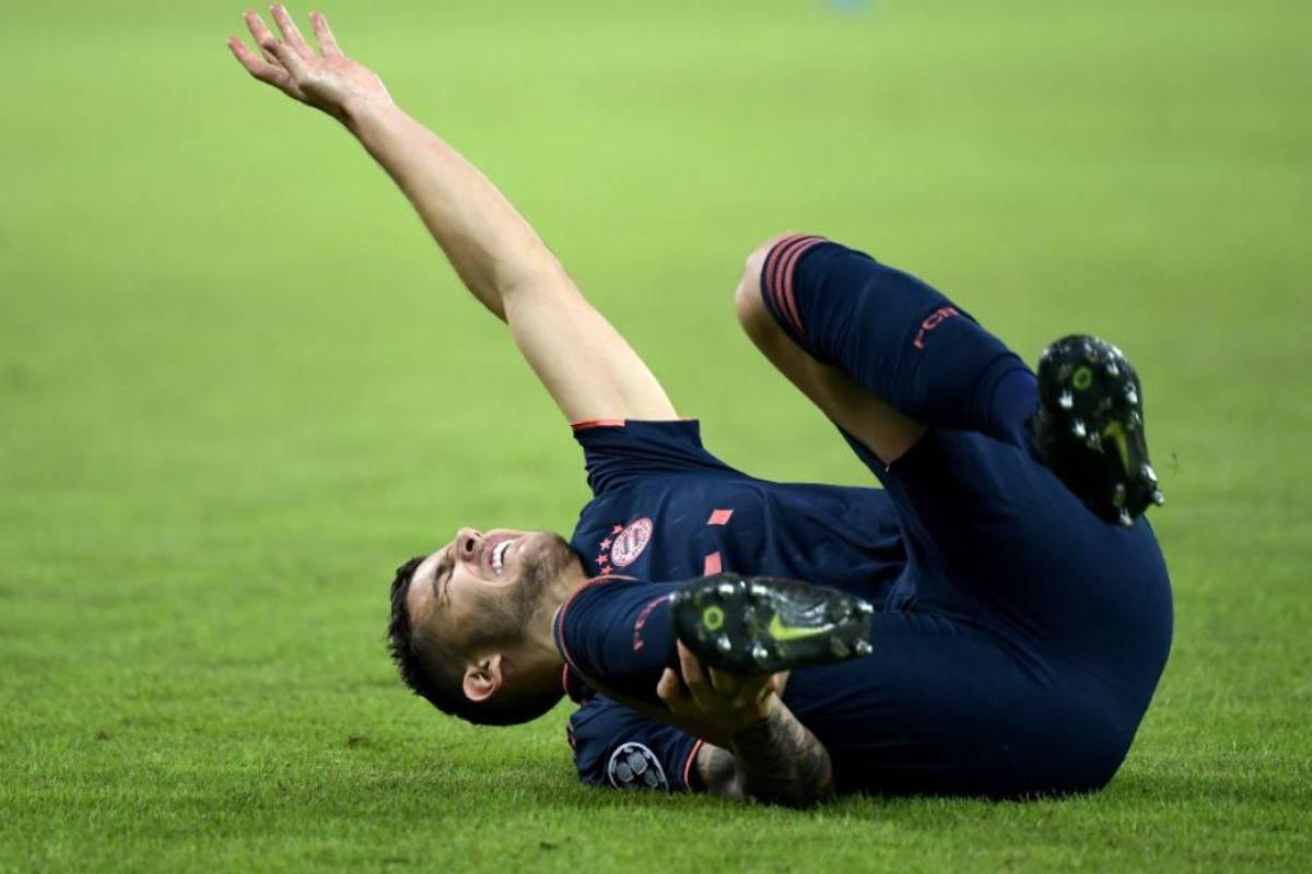 Lucas Hernandez infortunio Bayern Monaco