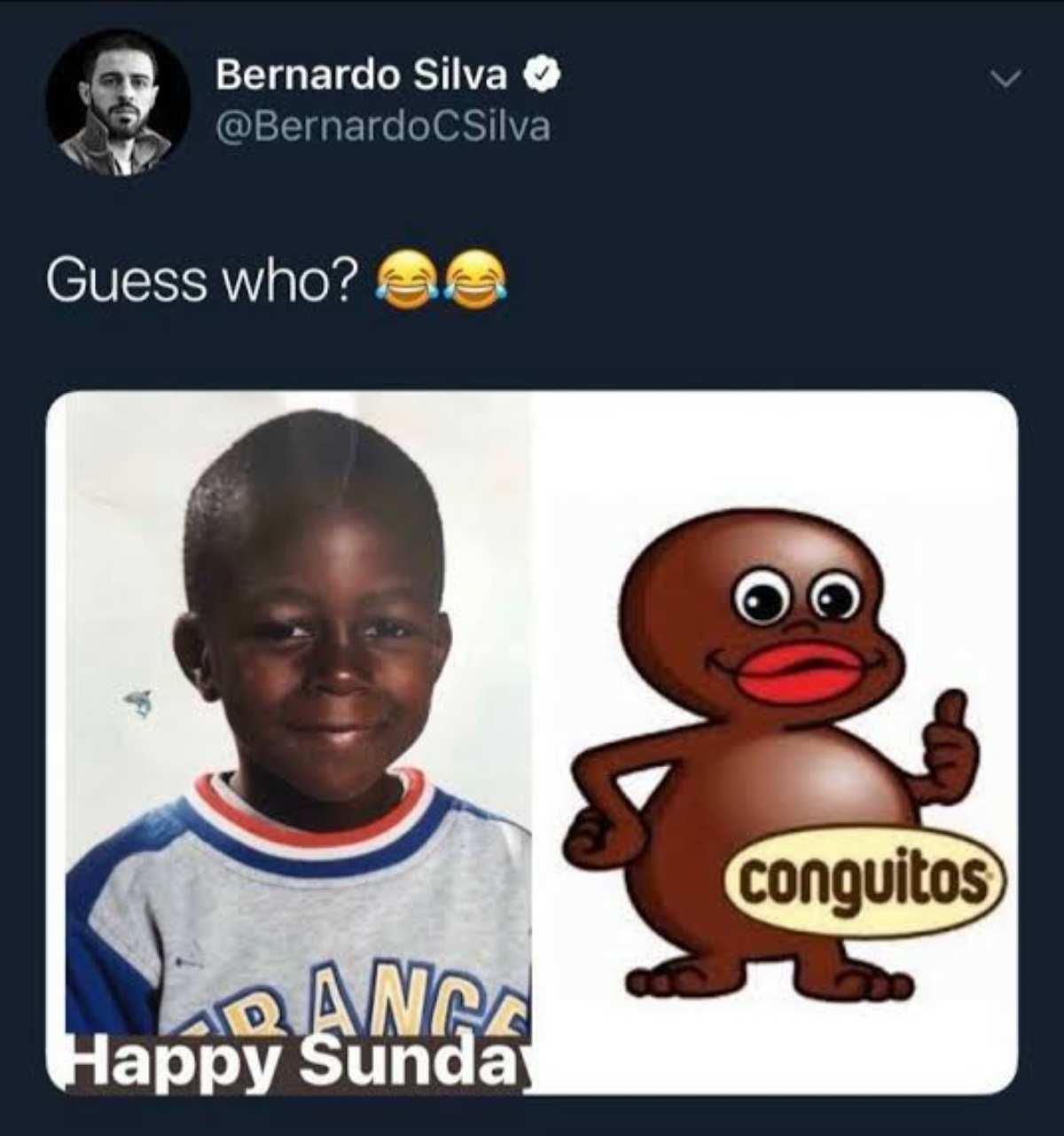 Il tweet di Bernardo Silva su Benjamin Mendy