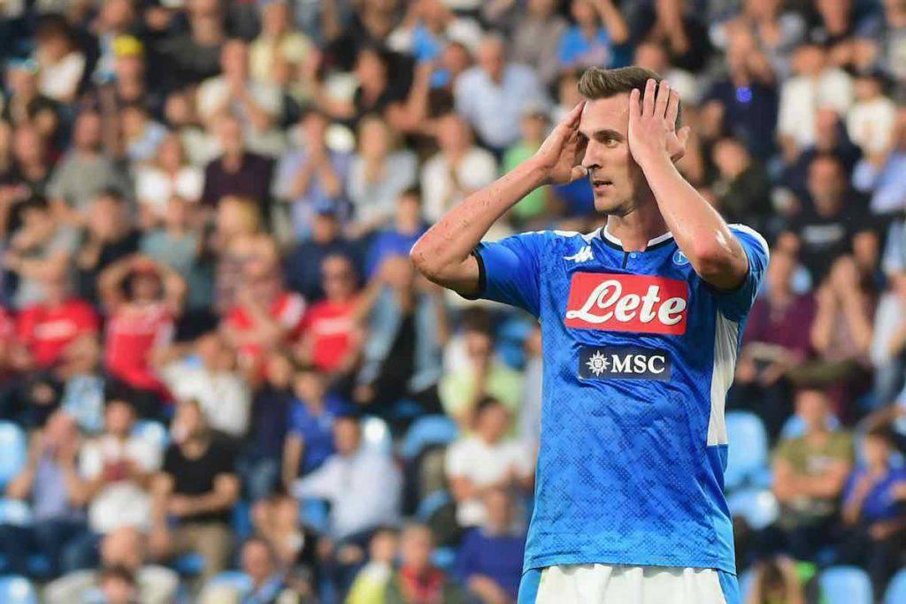 Milik carica i tifosi del Napoli su Instagram