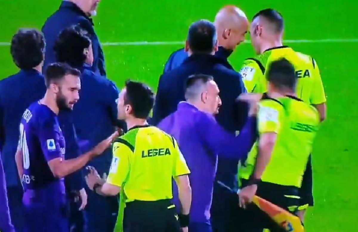 Ribery espulso Fiorentina-Lazio