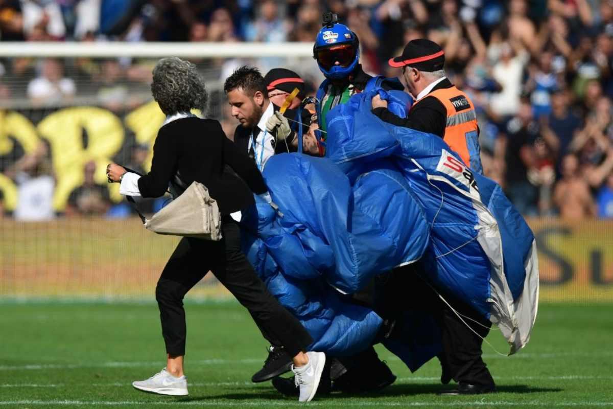 Sassuolo-Inter, punito con il Daspo l'invasore col paracadute