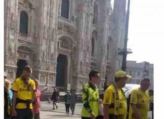 Tifosi del Borussia Dortmund a Milano